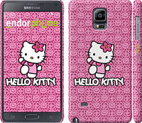 "Чехол на Samsung Galaxy Note 4 N910H Hello kitty. Pink lace ""680c-64"""