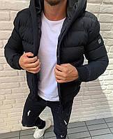 Мужская куртка зимняя тёплая чёрный. Размеры (С, М, Л, ХЛ, ХХЛ)