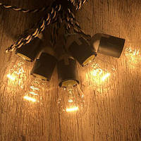 Гирлянда из лампочек, ретро гирлянда под заказ от 1 м.