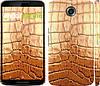 """Чехол на Motorola Nexus 6 Кожа крокодила """"1108c-67"""""""