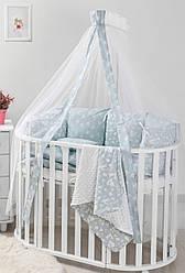 Балдахин для детской кроватки Twins Dolce D-012 Лесные жители mint