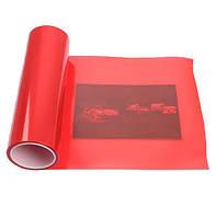 Автомобильная защитная тонировочная пленка для фар Красная 100х30 см