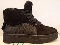 Ботинки женские зимние из натуральной замши на толстой подошве от производителя модель ЛИН082, фото 1