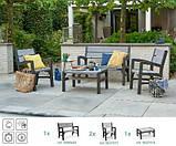Набор садовой мебели Montero Set из искусственного ротанга ( Allibert by Keter ), фото 10