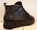 Ботинки женские зимние из натуральной кожи на толстой подошве от производителя модель ЛИН083, фото 3