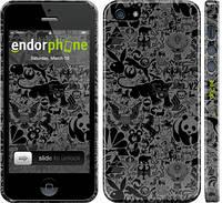 "Чехол на iPhone 5s Чёрно-серый стикер бомбинг ""2432c-21"""