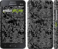 "Чехол на Samsung Galaxy Core 2 G355 Чёрно-серый стикер бомбинг ""2432c-75"""