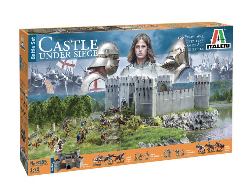 CASTEL UNDER SIEGE - 100 Years' War 1337/1453 - BATTLESET. 1/72 ITALERI 6185