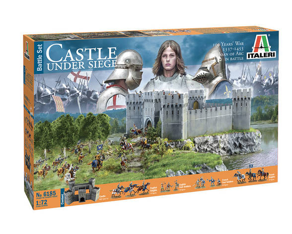 CASTEL UNDER SIEGE - 100 Years' War 1337/1453 - BATTLESET. 1/72 ITALERI 6185, фото 2