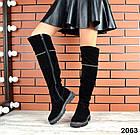Демисезонные ботфорты черного цвета, натуральная замша 36 40 ПОСЛЕДНИЕ РАЗМЕРЫ, фото 2
