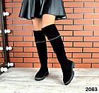 Демисезонные ботфорты черного цвета, натуральная замша 36 40 ПОСЛЕДНИЕ РАЗМЕРЫ, фото 3
