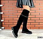 Демисезонные ботфорты черного цвета, натуральная замша 36 40 ПОСЛЕДНИЕ РАЗМЕРЫ, фото 5