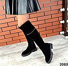 Демисезонные ботфорты черного цвета, натуральная замша 36 40 ПОСЛЕДНИЕ РАЗМЕРЫ, фото 4