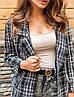 Жіночий піджак. на кнопках, тканина: букле+підкладка. Розмір: З(42-44)М(44-46). Колір:сірий з чорним. (1220), фото 4