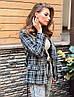 Жіночий піджак. на кнопках, тканина: букле+підкладка. Розмір: З(42-44)М(44-46). Колір:сірий з чорним. (1220), фото 7
