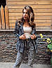 Жіночий піджак. на кнопках, тканина: букле+підкладка. Розмір: З(42-44)М(44-46). Колір:сірий з чорним. (1220), фото 8