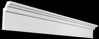 Потолочный плинтус гладкий для натяжного потолка Glanzepol GPX2, 50х25 мм