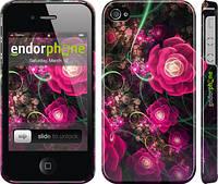 """Чехол на iPhone 4 Абстрактные цветы 3 """"850c-15"""""""