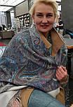 Драгоценная 1292-2, павлопосадский платок (шаль) из уплотненной шерсти с шелковой вязанной бахромой, фото 3