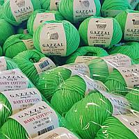 Gazzal Baby Cotton (беби коттон) 3427 салатовый