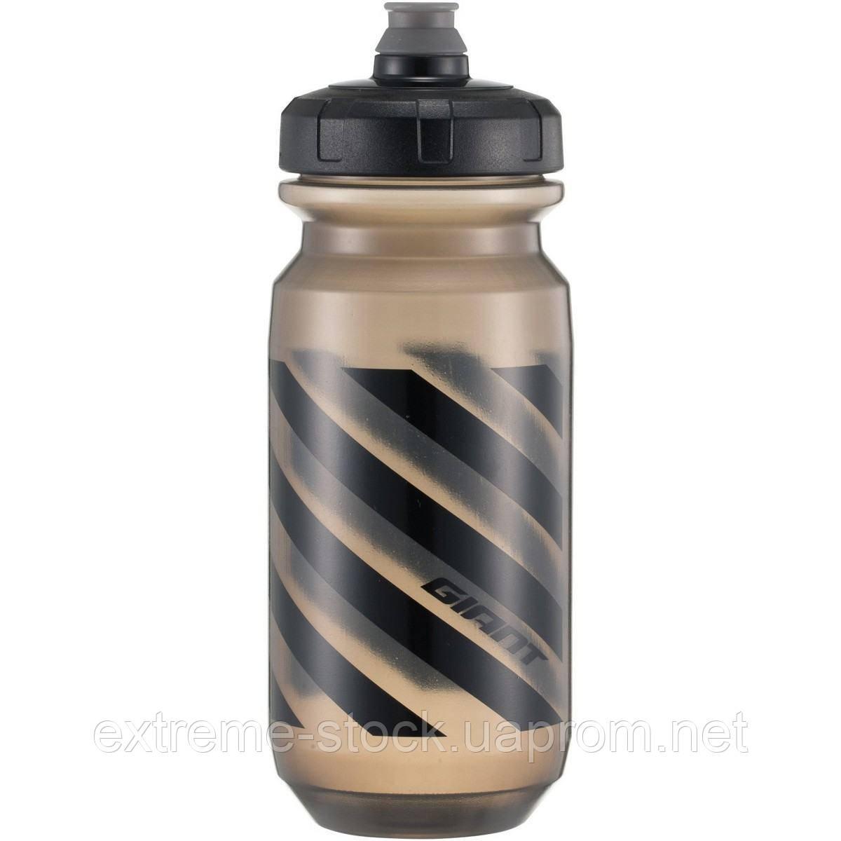 Фляга Giant Doublespring Bottle, 600 ml, прозрачно-чёрная