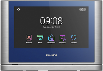 Видеодомофон  COMMAX CDV-1024MA  Blue+Dark Silver