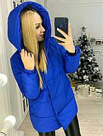 Женская стильная зимняя куртка с капюшоном