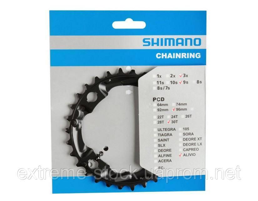 Звезда Shimano Alivio FC-M4000/M4050, стальная, 30 зубьев, чёрная