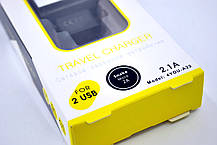 Зарядное устройство 4you A22 (2100mAh - 100%, 2 USB, Led, Exclusive design) black/white + Micro USB (Snake), фото 3