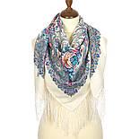 Март 904-4, павлопосадский платок шерстяной (двуниточная шерсть) с шелковой бахромой, фото 2