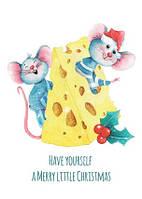 """Новорічна листівка """"Мишки 2"""", фото 1"""