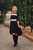Платье женское с ассиметричной юбкой.