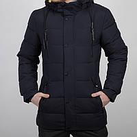 Парка мужская очень теплая удлиненная с карманами на меху