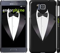 "Чехол на Samsung Galaxy Alpha G850F Смокинг ""1161c-65"""