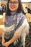 Март 904-4, павлопосадский платок шерстяной (двуниточная шерсть) с шелковой бахромой, фото 7