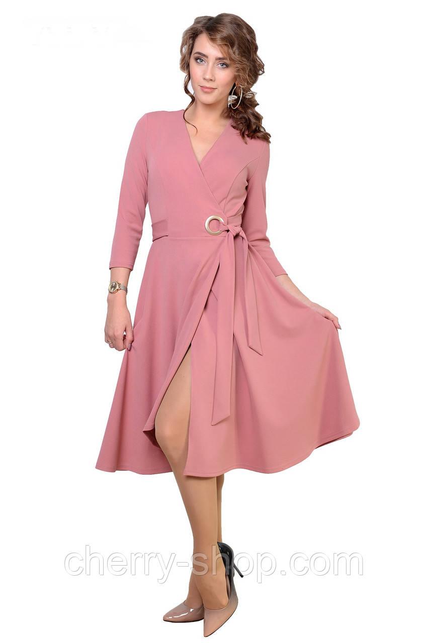 Платье в романтическом стиле с имитацией запаха