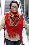 Венский вальс 1121-3, павлопосадский платок шерстяной  с шелковой бахромой, фото 3