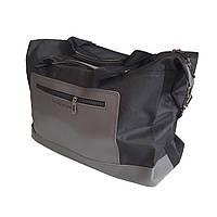 Спортивная сумка с плечевым ремнем черная с серым, фото 1