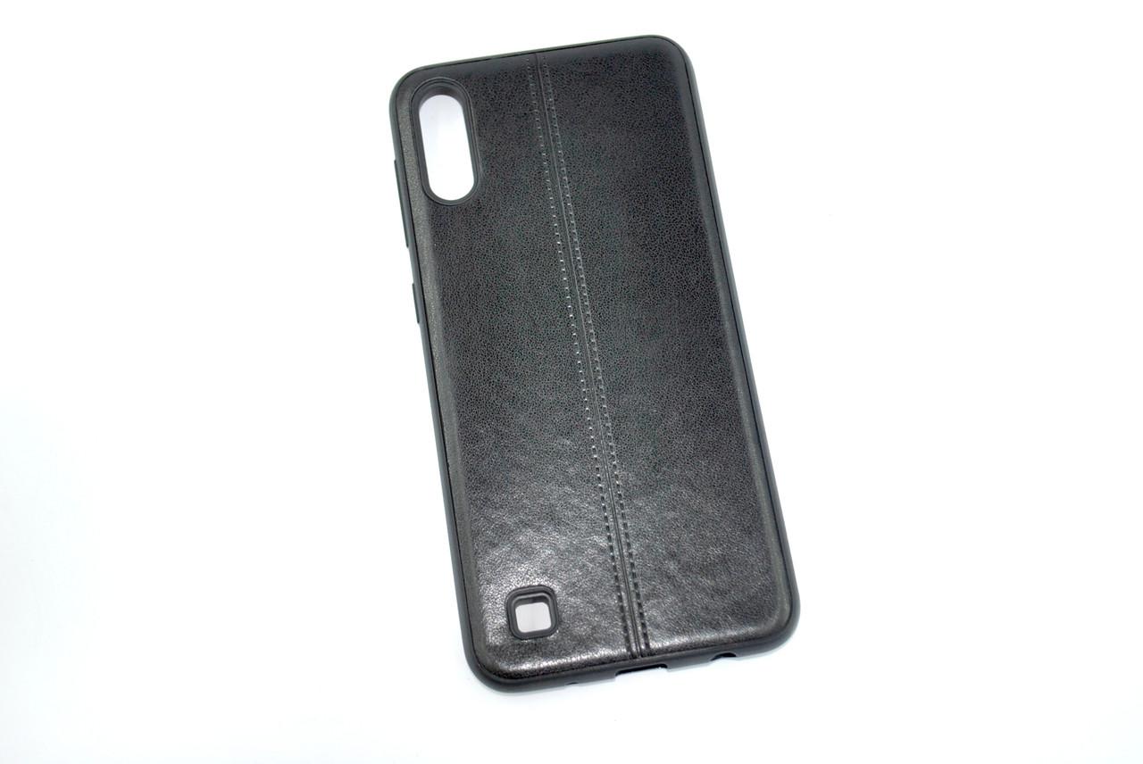 Чехол для Samsung A40/A405 (2019) Silicone Fashion Leather Black