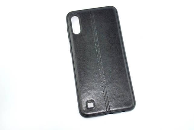 Чехол для Samsung A40/A405 (2019) Silicone Fashion Leather Black, фото 2