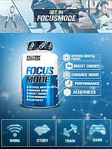 Енергетик стимулятор мозкової діяльності EVLution Nutrition Focus Mode 60 капс., фото 3