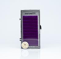 Ресницы INFINITY Фиолетовые  CC 0.07  -12mm