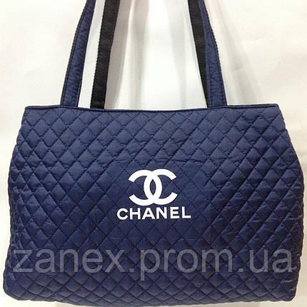 Женская сумка стеганая (синяя) Chanel, фото 2