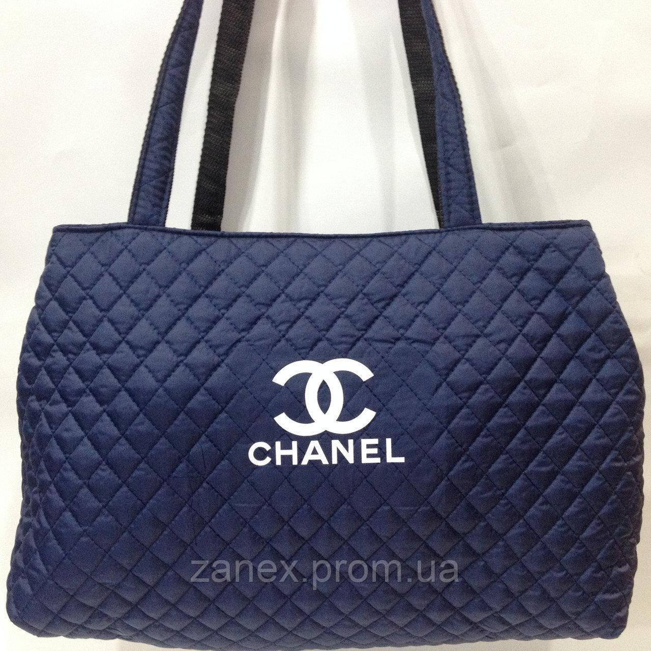 Женская сумка стеганая (синяя) Chanel