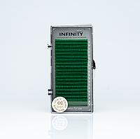 Ресницы INFINITY Green (Зелёные)  CC 0.07  -12mm