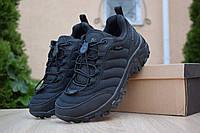 Мужские зимние кроссовки Merrell Vibram, нейлон, черные.