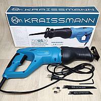 Электрическая сабельная пила KRAISSMANN 710US20 c поворотной ручкой, фото 1