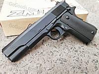 Легендарный пистолет COLT 1911 ZM19 металлический страйкбольный спринговый (пружинный)