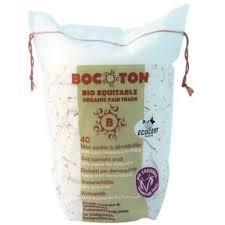 Органические квадратные ватные диски Bocoton75x75mm 40шт.