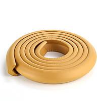 Защита на острые края мебели, лента защитная для торцов и углов мебели. Светло-коричневая.